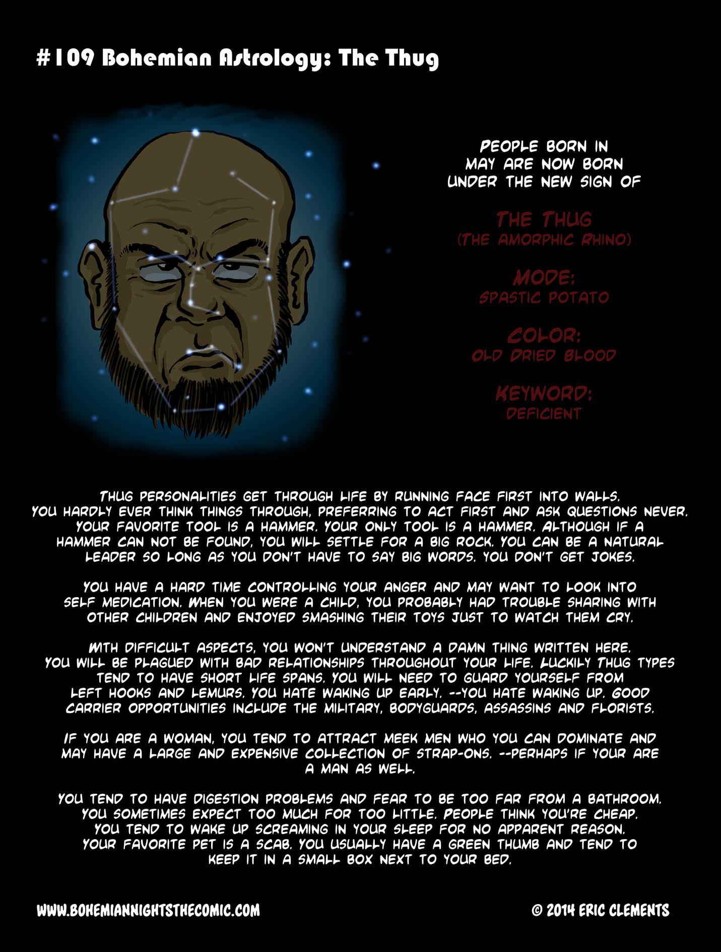 #109 Bohemian Astrology: The Thug