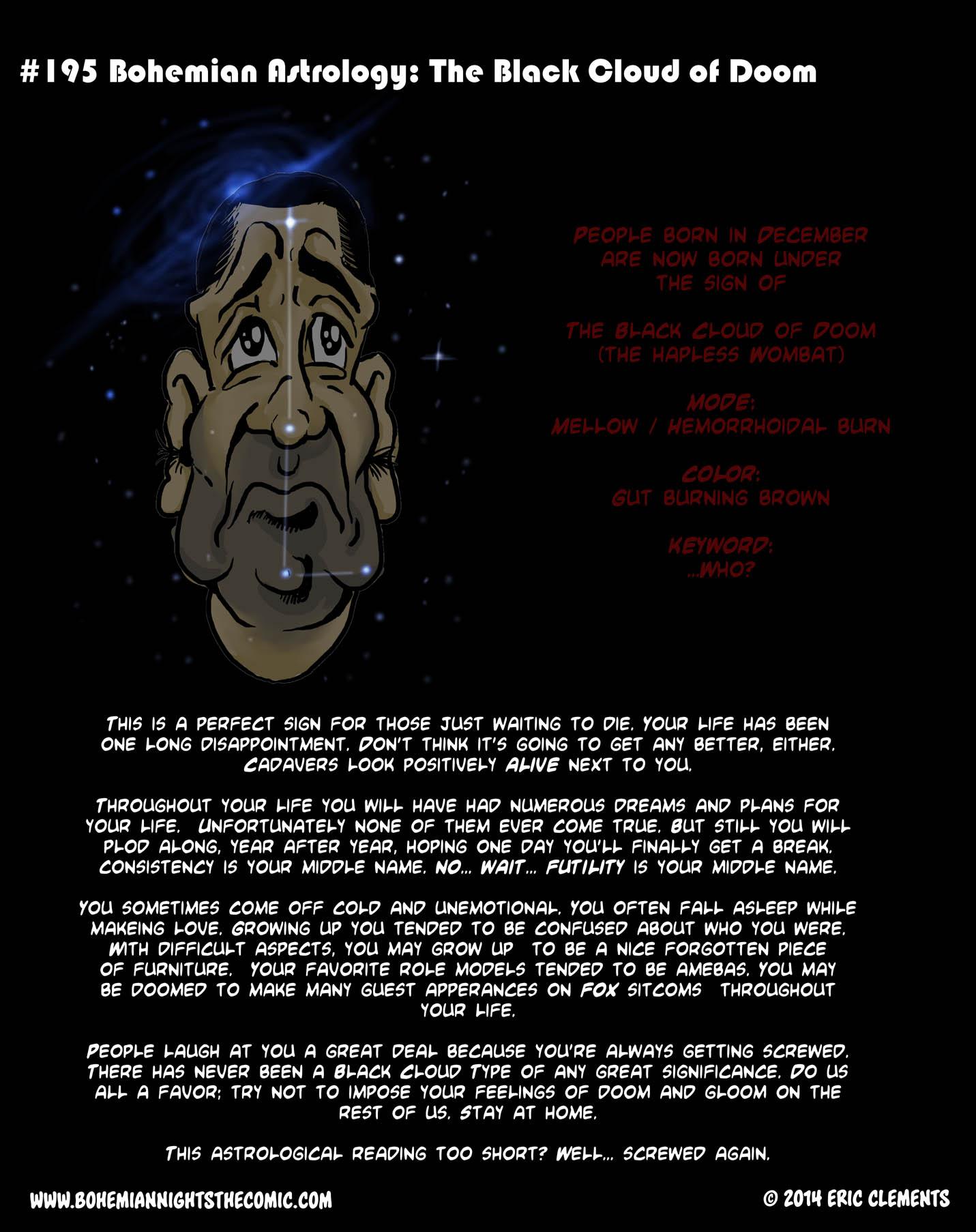 #195 Bohemian Astrology: The Black Cloud of Doom
